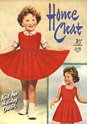 Dresses Drawings - 1950s Uk Home Chat Magazine Cover by The Advertising Archives