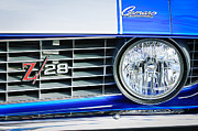 1969 Photo Framed Prints - 1969 Chevrolet Camaro Z-28 Grille Emblem Framed Print by Jill Reger