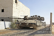 Dirt Roads Photos - An Israel Defense Force Merkava Mark Ii by Ofer Zidon