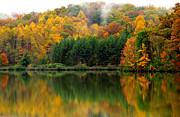Reflecting Art - Autumn Big Ditch Lake by Thomas R Fletcher