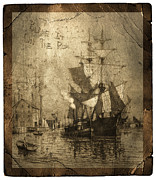 Torn Photo Framed Prints - Blame It On The Rum Schooner Framed Print by John Stephens