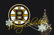 Christmas Greeting Cards Photo Framed Prints - Boston Bruins Framed Print by Joe Hamilton