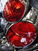 Brake Metal Prints - Brake Light 13 Metal Print by Sarah Loft