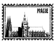 Prague Towers Photos - Cathedral of St Vitus by Michal Boubin