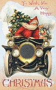 Motor Art - Christmas card by English School