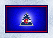 Hockey Art - Colorado Rockies by Joe Hamilton