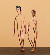 Featured Sculptures - Couple Walking by Mel Drucker