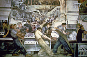 African-american Institute Photos - Diego Rivera - Detroit by Granger