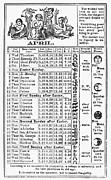 Family Almanac, 1874 Print by Granger