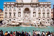 Lazio Photos - Fontana di Trevi in Rome by George Atsametakis
