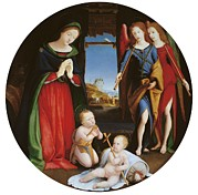 Mary Holding The Christ Prints - Italy, Lazio, Rome, Borghese Gallery Print by Everett