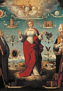 Religious Dress Framed Prints - Italy, Lombardy, Milan, Brera Art Framed Print by Everett