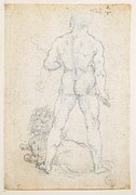 Naked Cat Prints - Italy, Piemonte, Turin, Royal Library Print by Everett