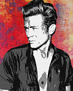 James Dean Prints - James Dean Print by Allen Glass