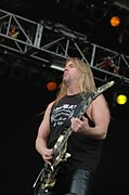 Jeff Photo Prints - Jeff Hanneman from Slayer Print by Jenny Potter