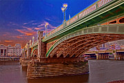Chelsea Prints - London Thames Bridges Print by David French
