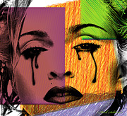 Adults Digital Art Posters - Madonna  Poster by Mark Ashkenazi