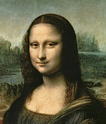 Smile Painting Metal Prints - Mona Lisa Metal Print by Leonardo Da Vinci