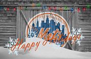 Baseball Bat Metal Prints - New York Mets Metal Print by Joe Hamilton