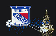 New York Rangers Posters - New York Rangers Poster by Joe Hamilton