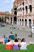 City Photos - Outside Colosseum in Rome by George Atsametakis