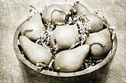 Ripe Mixed Media - 7 Pears At A Party BW by Andee Photography