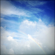 Rainbow Photo Posters - Rainbow Poster by Les Cunliffe