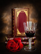 Red Wine Prints Posters - Red Rose Poster by Mark Llewellyn