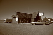 Route 66 - Bagdad Cafe Print by Frank Romeo