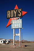 Bistro Posters - Route 66 - Roys of Amboy California Poster by Frank Romeo