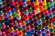 Balance In Life Art - Rows of multicolored crayons  by Jim Corwin