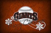 Glove Photo Framed Prints - San Francisco Giants Framed Print by Joe Hamilton