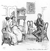 Related Prints - Scene from Pride and Prejudice by Jane Austen Print by Hugh Thomson
