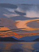Scottish Art Originals - Sunsets last fire by Malcolm Warrilow