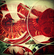Lens Prints - Tail lights Print by Les Cunliffe