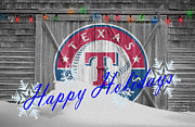 Baseball Bat Metal Prints - Texas Rangers Metal Print by Joe Hamilton