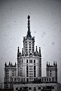 High Rise Posters - 7 Towers Of Moscow Poster by Stylianos Kleanthous