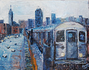 New York State Paintings - 7 Train by Lauren Luna