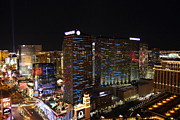 Cosmopolitan Photo Acrylic Prints - View from Eiffel Tower in Las Vegas - 01131 Acrylic Print by DC Photographer