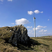 Environmentally Prints - Wind turbine Print by Bernard Jaubert
