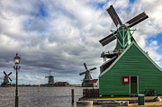 Windmills Framed Prints - Zaanse Schans Framed Print by Joana Kruse