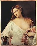 Titian Hair Framed Prints - Italy, Tuscany, Florence, Uffizi Framed Print by Everett