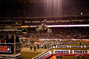 Supercross Framed Prints - 7000 Framed Print by Daniel  Knighton