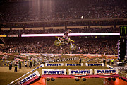 Supercross Framed Prints - 7001 Framed Print by Daniel  Knighton
