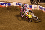 Supercross Framed Prints - 7020 Framed Print by Daniel  Knighton