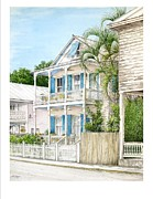 Key West Paintings - 704 Caroline Street by Bob  George