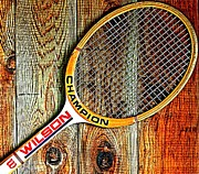 Tennis Racket Prints - 70s Champion Print by Benjamin Yeager