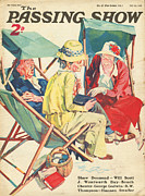 Beaches Drawings Prints - 1930s,uk,the Passing Show,magazine Cover Print by The Advertising Archives