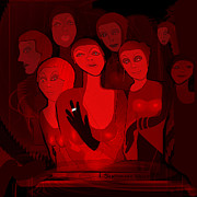 Sex Digital Art - 713 - Red Light Ladies ... by Irmgard Schoendorf Welch