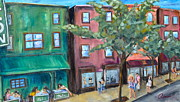 Landscapes Paintings - 72nd And 2nd by Michael  Accorsi